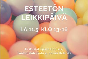 Esteetön leikkipäivä Oodissa 11.5.2019
