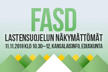 FASD – Lastensuojelun näkymättömät. Keskustelutilaisuus Kansalaisinfossa 11.11.