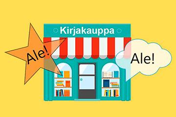 Ale Selkokeskuksen kirjakaupassa!