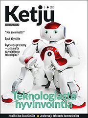 Ketju 5/2019 -lehden kannessa on robotti.