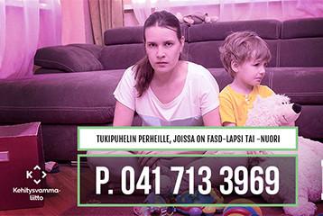 Tukipuhelin perheille, joissa on lapsi tai nuori jolla on FASD