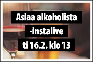 Asiaa alkoholista -instalive ti 16.2. klo 13