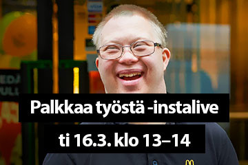Palkkaa työstä -instalive ti 16.3. klo 13