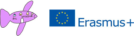 All Inclusive -logo ja Erasmus+ -tunnus.