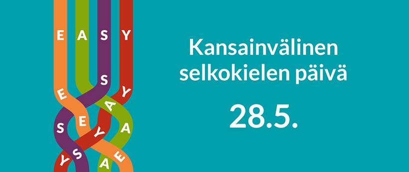 Kansainvälinen selkokielen päivä 28.5.