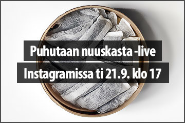 Puhutaan nuuskasta -live ti 21.9.2021