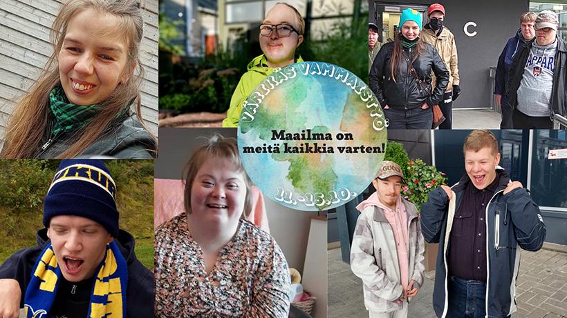 Värikäs vammaistyö. Maailma on meitä kaikkia varten! 11.-15.10.2021