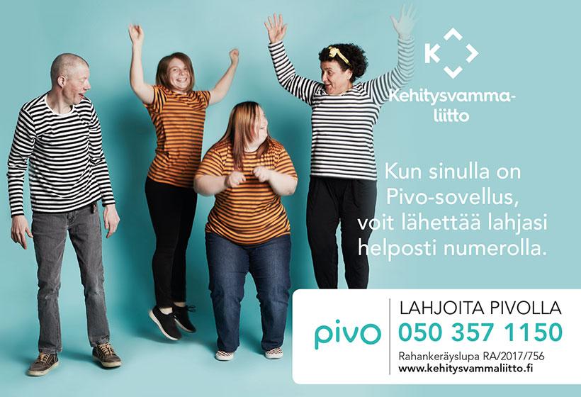 Lahjoita Pivolla (lahjoitusnumero 050 357 1150)