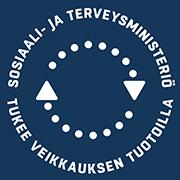 Sosiaali- ja terveysministeriö tukee Veikkauksen tuotoilla -logo.