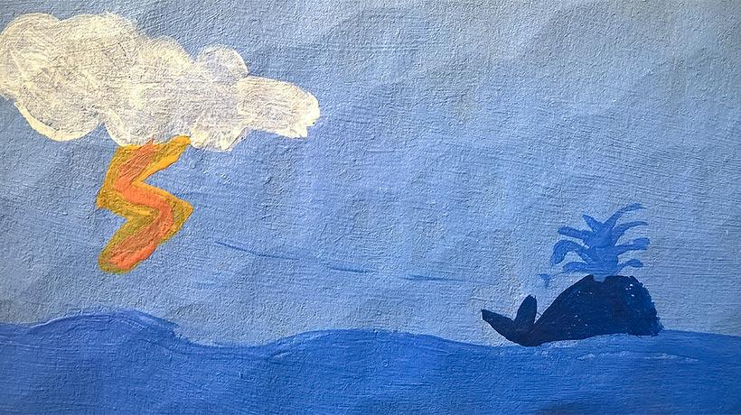 Valas merellä.
