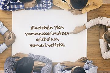 Aineistoja YK:n vammaissopimuksen opiskeluun Verneri.netistä